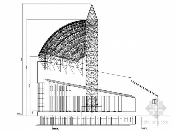 职业学院体育场看台膜结构图纸