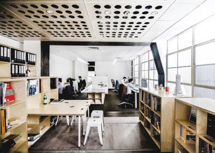 建筑师给自己设计的办公室,什么样的都有_21
