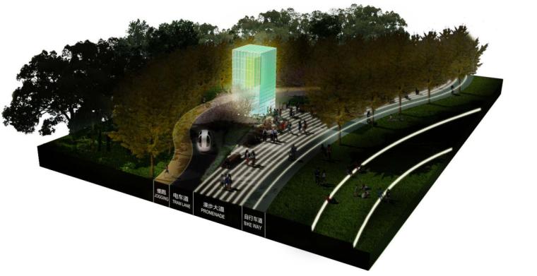 [上海]南站绿轴景观方案设计(现代风格)A-13道路设计