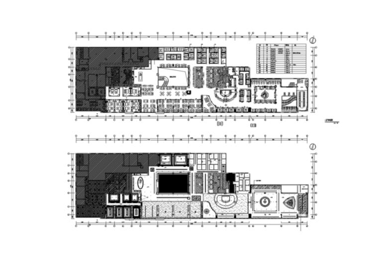 邦果咖啡餐厅室内设计二层全套施工图(含47个cad图纸)图片
