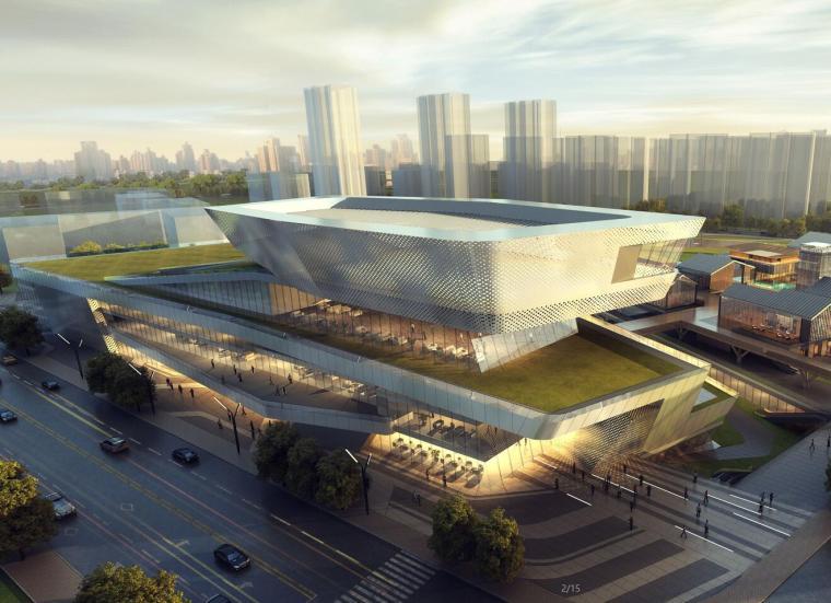 远洋·天津宜兴埠项目4A地块商业、老街、邻里中心投标建筑模型