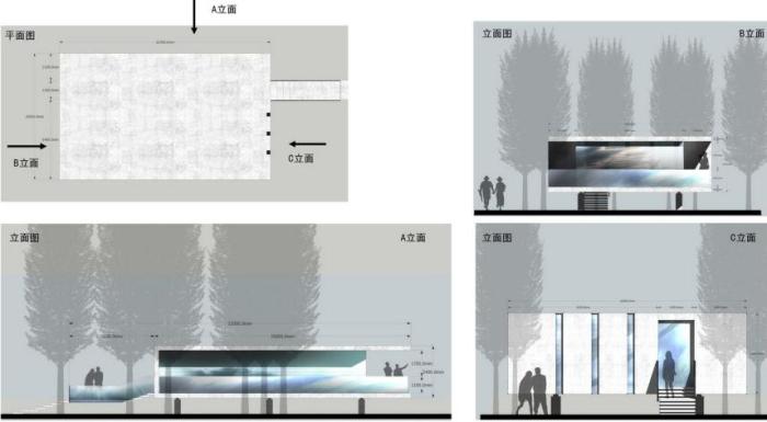 [上海]湿地台地田园景观农业观光园旅游度假村景观规划设计-单体别墅平立面图