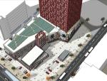 大型城市商业综合体方案SU模型