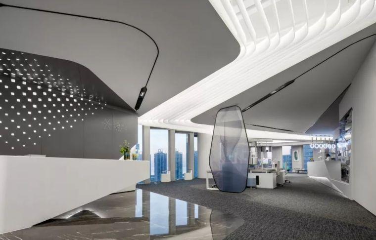 无拘界限,韵律之境∣深圳万科滨海云中心办公展厅设计