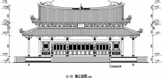 钢筋混凝土框架结构仿古建筑施工图