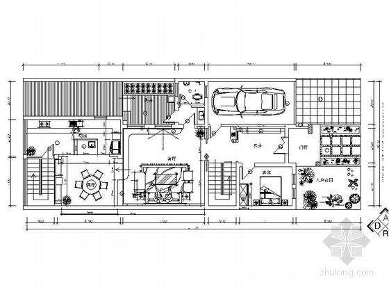 [福州]日式田园混搭三层别墅室内装修图(含效果)