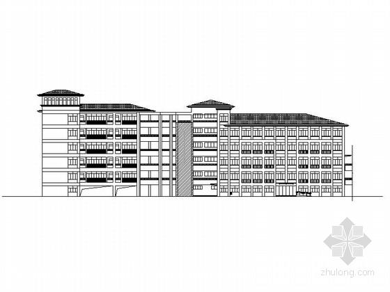 [江苏]六层框架结构瓦屋面县级中学教学综合楼建筑施工图