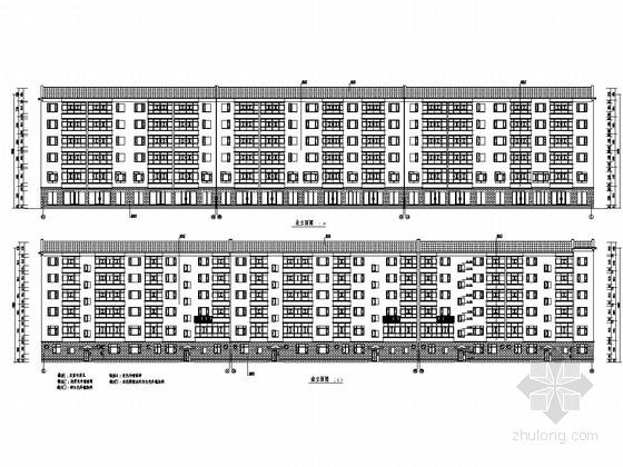 六层底部框剪上部砌体结构住宅楼建筑结构施工图