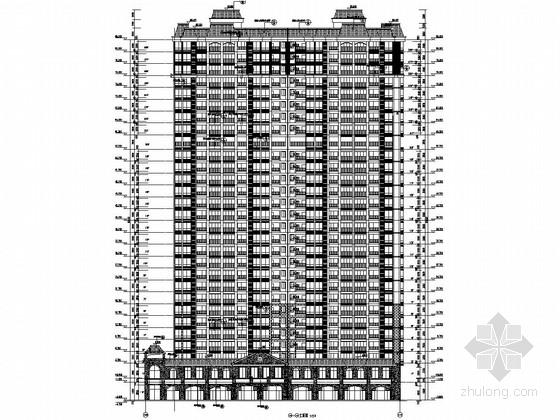 [广西]27层剪力墙结构商住楼结构施工图(含建筑图)