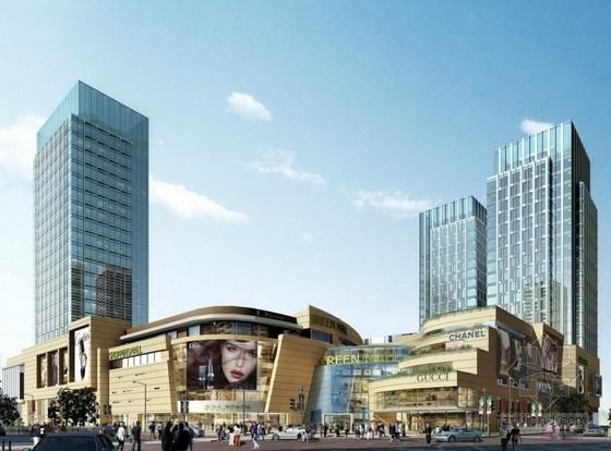 高档现代风格多层次商业综合体建筑效果图