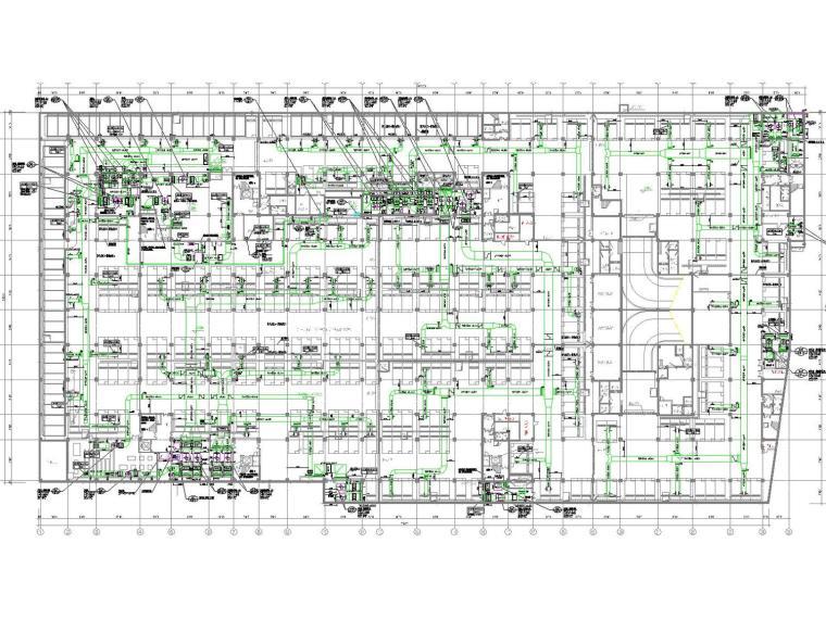 [上海]综合体育馆空调通风设计全套施工图(风冷热泵、座位送风)