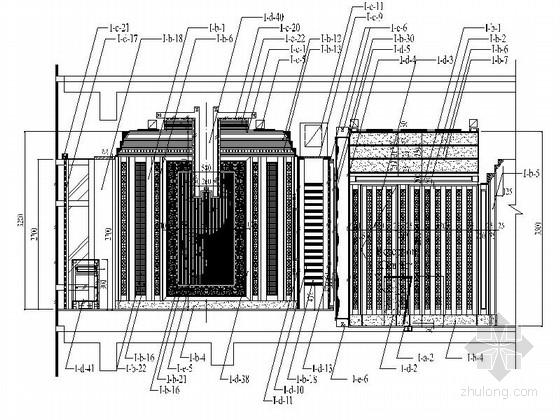 [北京]某豪华酒店意大利特色餐厅施工图-立面图