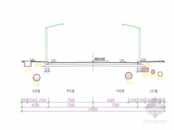 [重庆]城市主干道道路排水工程施工图设计28张