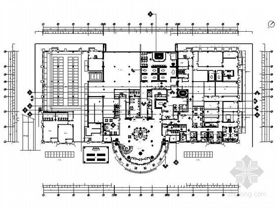 [内蒙古]物流园区豪华欧式体育休闲会所室内装修施工图(含效果)