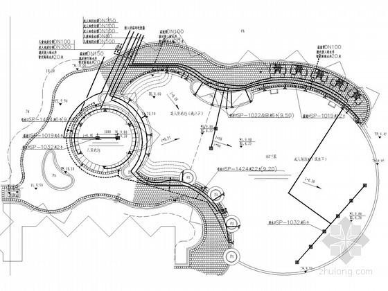 [深圳]超级豪华会所泳池水处理系统安装工程给排水图纸