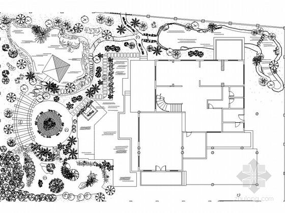 别墅景观施工图