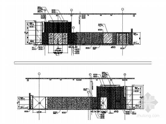 [厦门]中央商务区五星级豪华酒店装修图(含效果)前厅立面图