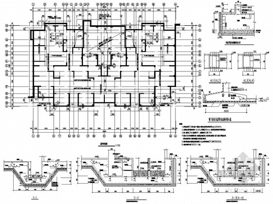 [河南]15层剪力墙结构住宅楼结构施工图(CFG桩复合地基筏板基础)