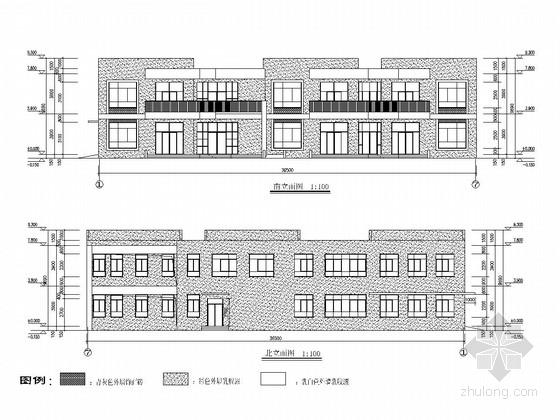 两层框架结构幼儿园结构施工图(含建筑图)