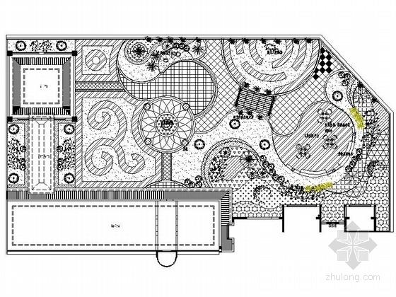 [武汉]售楼处屋顶花园景观设计施工图