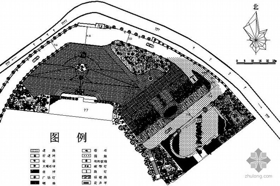某州委党校景观规划平面图