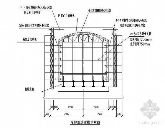 唐山某钢铁厂焦化工程焦炉烟道土建结构施工方案