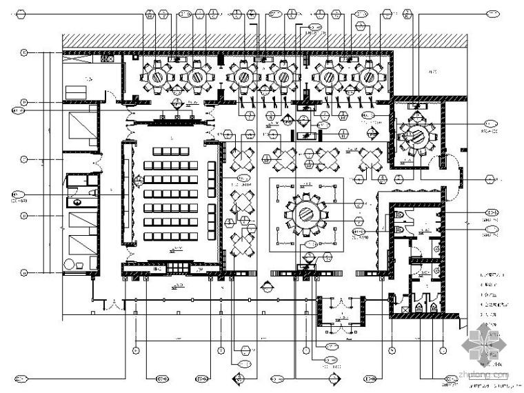 [北京]现代中式商务酒店室内装修图