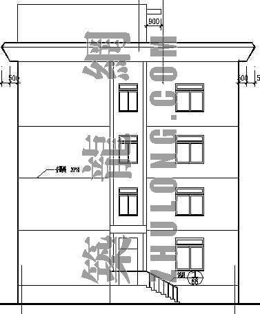 某镇政府办公楼施工图(全套)-3
