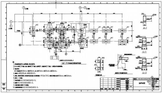 江阴某炼钢工程1#RH料仓基础及变压器室结构施工图