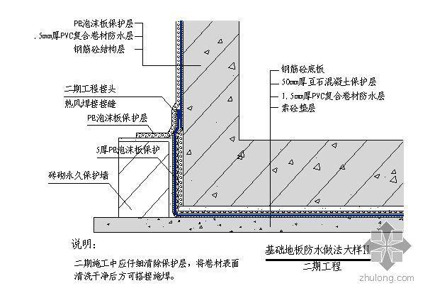 北京某高层商场地下室防水工程施工方案