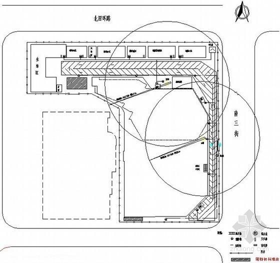 [北京]写字楼施工现场平面布置图(基础、主体、装修)