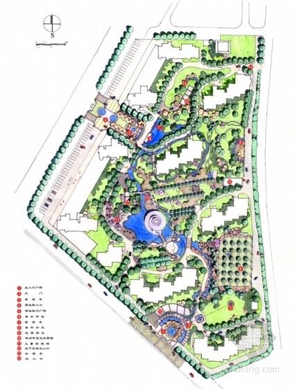 [北京]美式休闲风格居住区景观规划设计方案