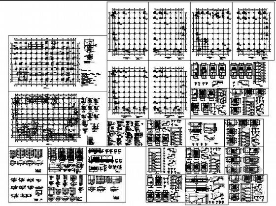 某大型超市框架结构设计图