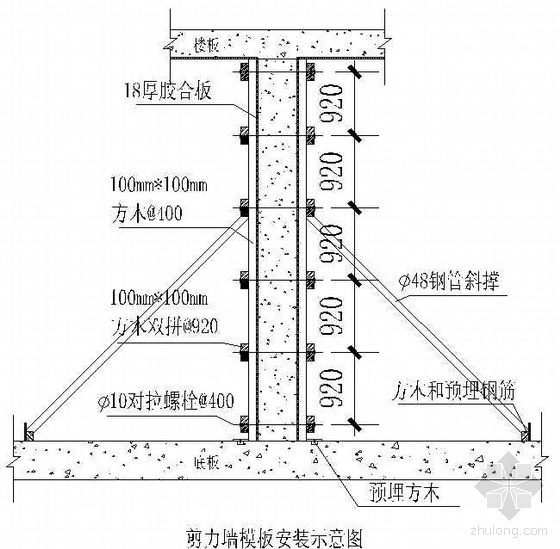 福建某病房综合楼工程模板施工方案(胶合板 闽江杯 鲁班奖)