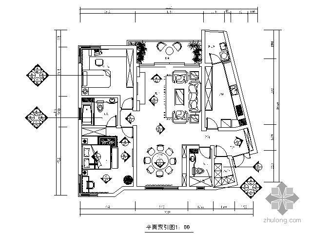 [毕业设计]120㎡现代简约欧式家装设计
