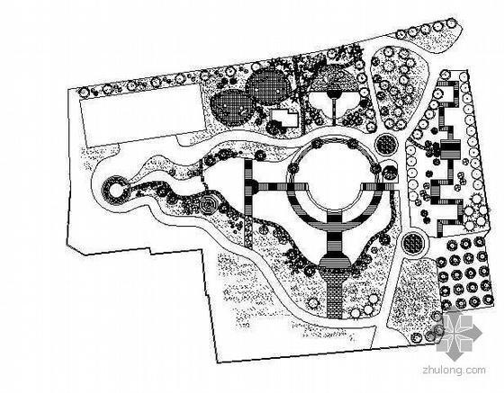 上海某小公园CAD平面图