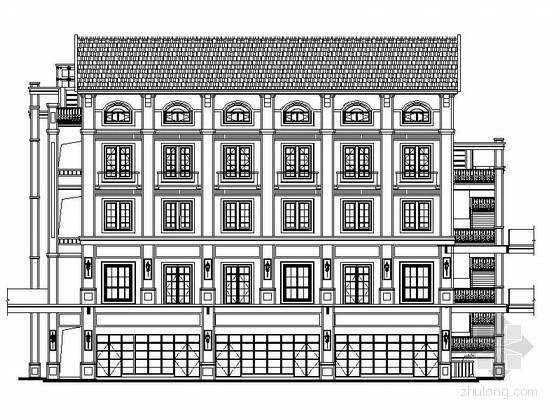 [重庆]某商业广场四层沿街商业建筑施工图(5号楼)