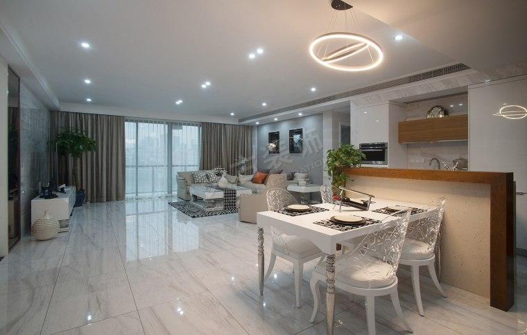 珊瑚水岸现代风格设计实景完工效果图时尚大气的家-图片4.jpg