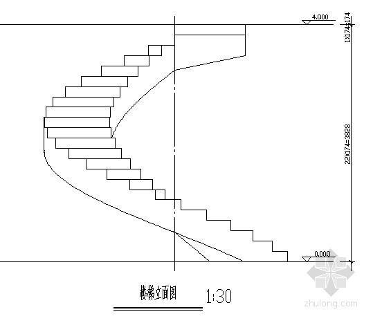 螺旋楼梯节点构造详图