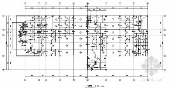 [学士]六层钢框架办公楼毕业设计(含计算书,建筑结构图)