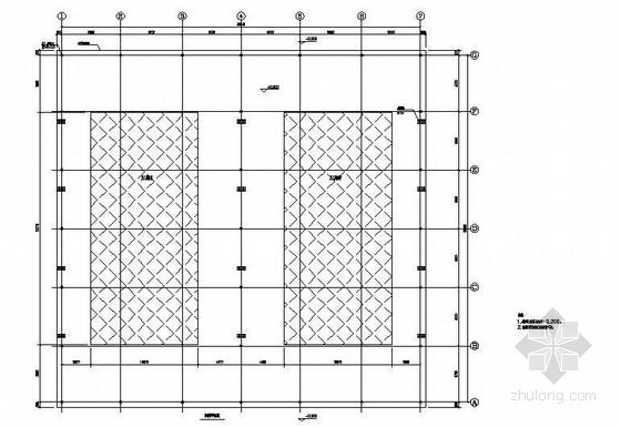 拱形钢结构屋顶网球场结构施工图