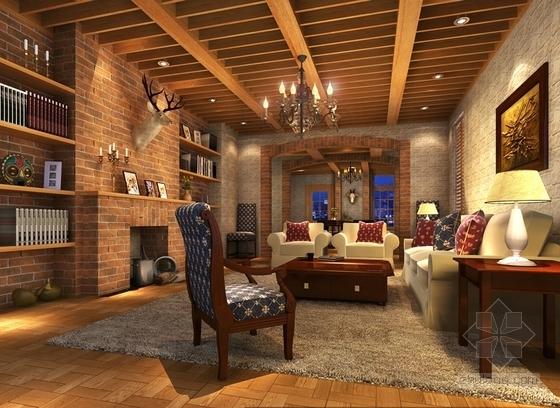 [深圳]三层别墅欧式风格样板房装修图(含效果图) 效果图