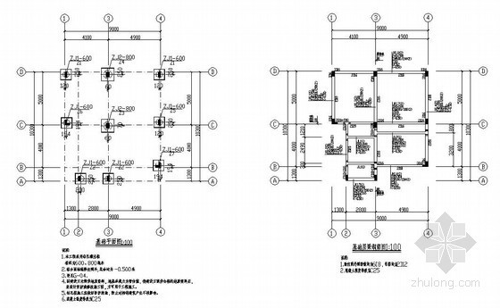 某3层框架农村别墅(住宅)建筑结构设计图
