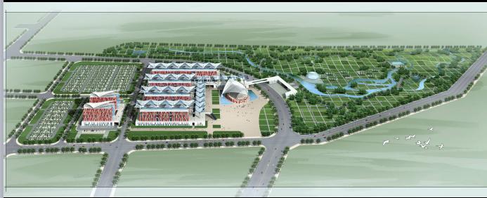 全国花博会展馆及配套设施建筑设计方案