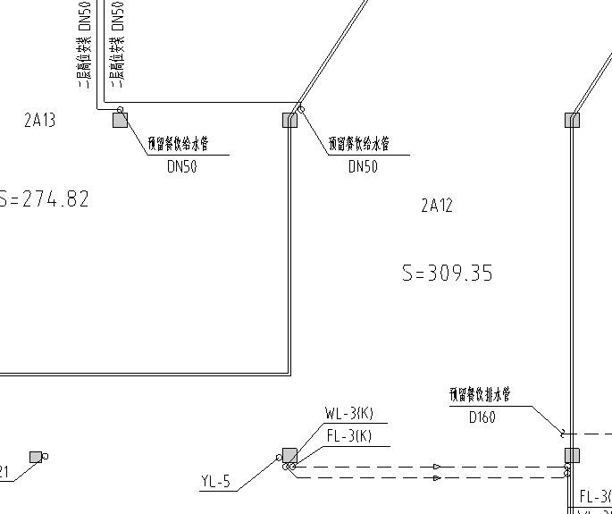 某市场给排水平面图_1