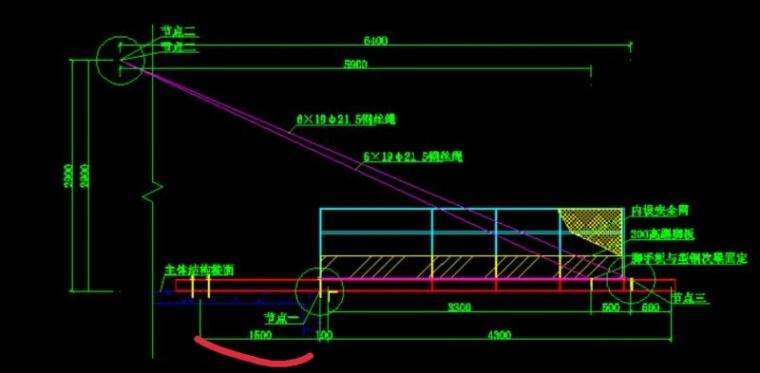 悬挑卸料平台主梁(16#工字钢)锚固长度有计算公式么?