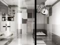 某城市综合体,40平loft公寓办公样板间设计效果图