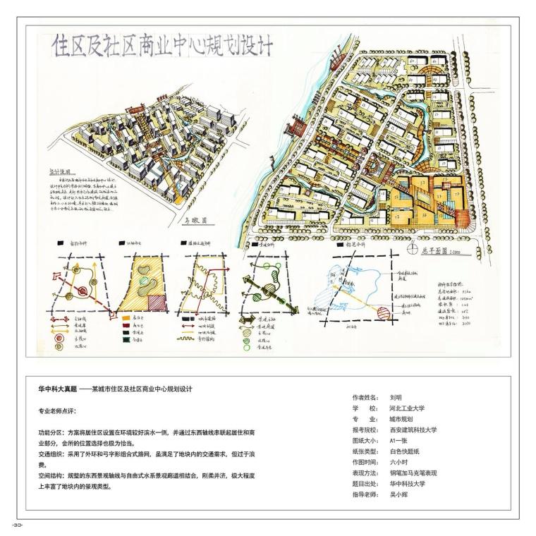 《城市规划快题100例》考研手绘资料-A (31)