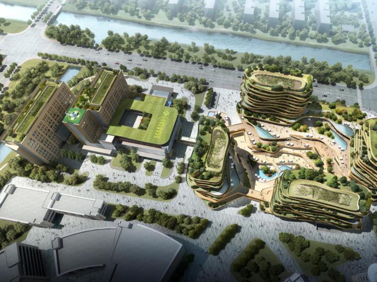 [上海]梅陇镇商业/医疗/养老/健康综合体规划建筑设计文本(PDF+64页)