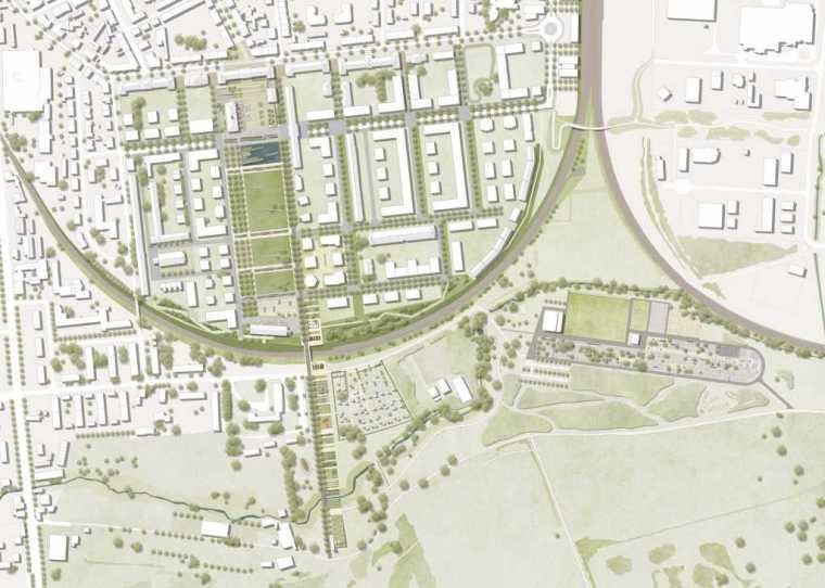 德国后工业场地改造的市民休闲运动空间-mooool-A24-Landschaft-LAN_Gesamtplan-A4